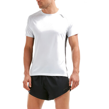 T-Shirt 2XU X-VENT Manches Courtes Blanc/Gris 2020